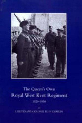 9781847344731: QUEEN'S OWN ROYAL WEST KENT REGIMENT 1920-1950