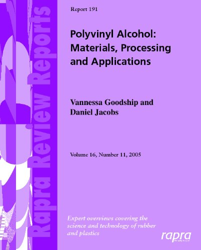9781847350954: Polyvinyl Alcohol: Materials, Processing and Applications (Rapra Review Reports)