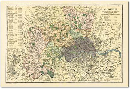 Map Of Uk 1900.9781847366207 Middlesex 1900 Cassini Historical Map Bco Mid