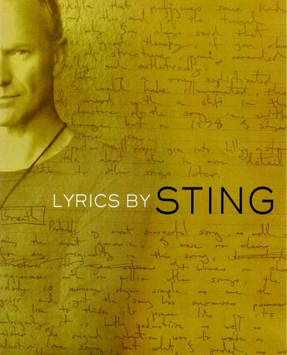 Lyrics 1st Edition Hardcover Signed By Sting: Sting