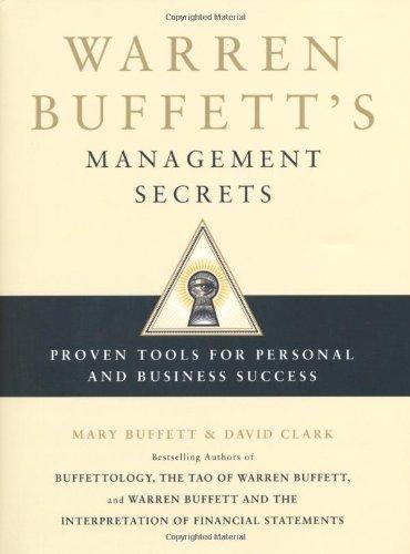 9781847376923: Warren Buffett's Management Secrets: Proven Tools for Personal and Business Success
