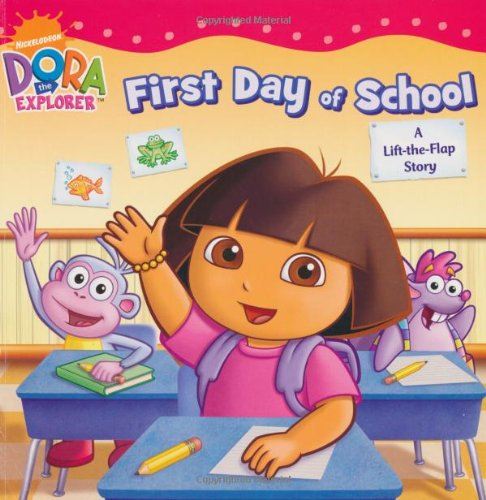 9781847386151: Dora's First Day at School: A Lift-the-Flap Book (Dora the Explorer)