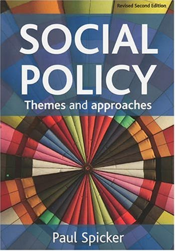 9781847420626: Social Policy: Themes and Approaches (Revised Second Edition)