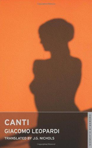 9781847490162: Canti (Oneworld Classics)