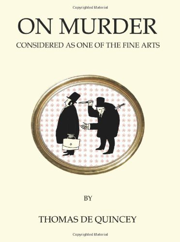 9781847491336: On Murder Considered as One of the Fine Arts (Oneworld Classics)