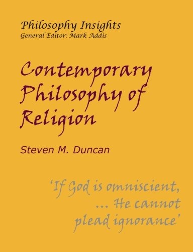 9781847600967: Contemporary Philosophy of Religion (Philosophy Insights)