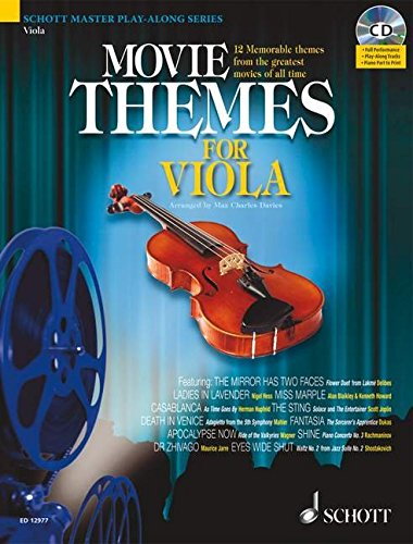 MOVIE THEMES FOR VIOLA       MASTER PLAY-ALONG SERIES     BOOK/CD (Schott Master Play-Along): ...
