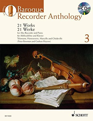 9781847612328: BAROQUE RECORDER ANTHOLOGY VOL. 3: 21 WORKS FOR TREBLE RECORDER AND PIANO BOOK/CD