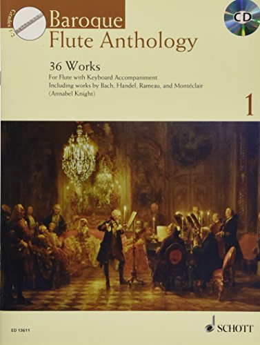 9781847613066: Baroque Flute Anthology Volume 1: 36 Works For Flute And Piano Book/Cd (Schott Anthology Series)