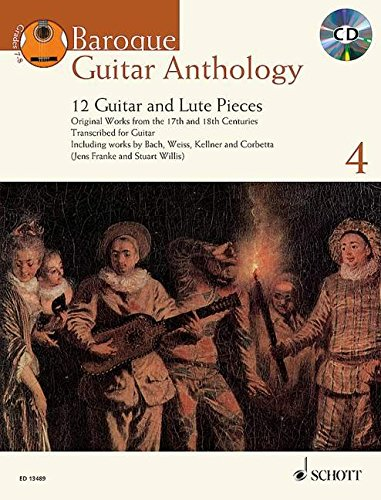 9781847613257: Baroque Guitar Anthology Vol. 4: 12 Guitar And Lute Pieces Book/Cd