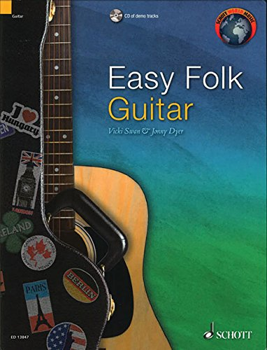 Easy Folk Guitar: 29 Traditional Pieces (Schott World Music) (Paperback)