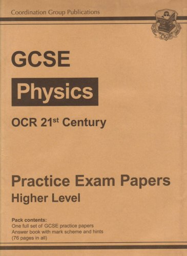 9781847620262: Physics OCR 21st Century Practice Papers - Higher