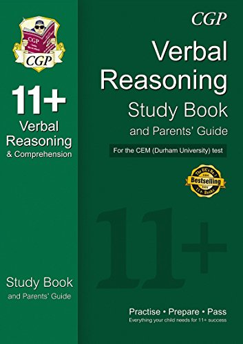 9781847621610: 11+ Verbal Reasoning Study Book and Parents' Guide for the CEM Test