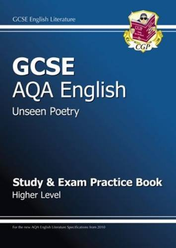 GCSE English AQA Unseen Poetry Study and: CGP Books