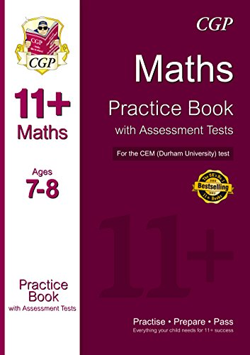 11+ Maths Practice Book with Assessment Tests (Age 7-8) for the CEM Test: CGP Books