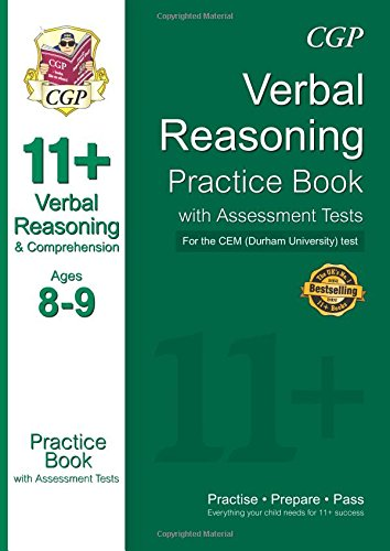 9781847625700: 11+ Verbal Reasoning Practice Book with Assessment Tests (Ages 8-9) for the CEM Test (CGP 11+ CEM)
