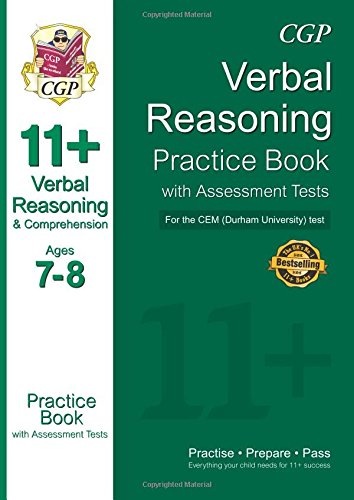 11+ Verbal Reasoning Practice Book with Assessment Tests (Age 7-8) for the CEM Test: CGP Books