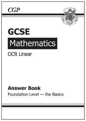 9781847626578: GCSE Maths OCR B Answers (for Workbook) - Foundation the Basics