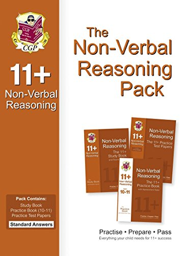 The 11+ Non-verbal Reasoning Bundle Pack - Standard Answers: CGP Books