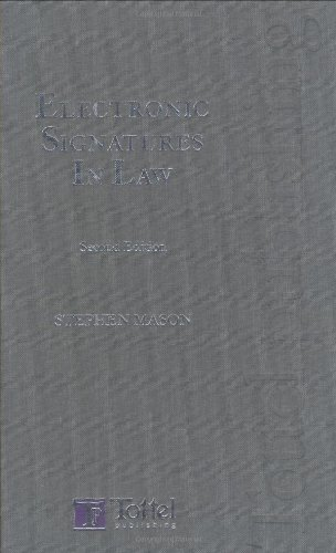 9781847660510: Electronic Signatures in Law: Second Edition