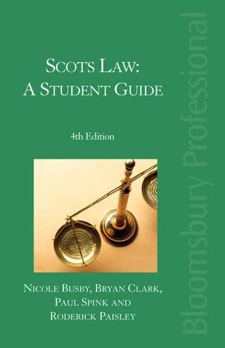 9781847665577: Scots Law: A Student Guide