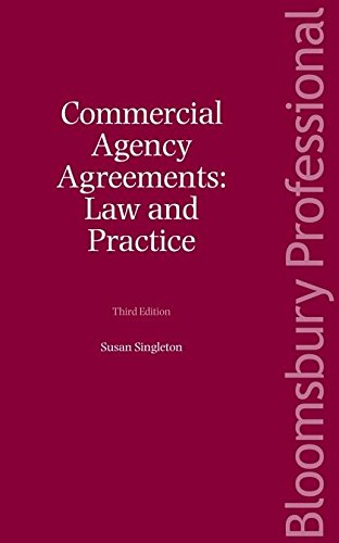 9781847665720: Commercial Agency Agreements: Law and Practice (Third Edition)