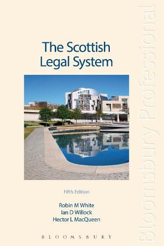 9781847667045: The Scottish Legal System: Fifth Edition