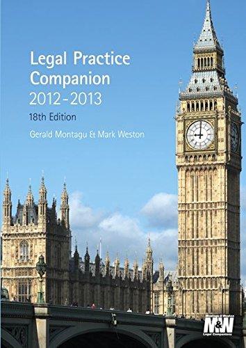 9781847669476: Legal Practice Companion 2012/13: Eighteenth Edition