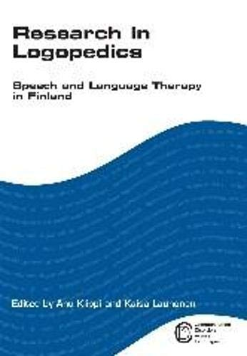 9781847690586: Research in Logopedics: Speech and Language Therapy in Finland (Communication Disorders Across Languages)