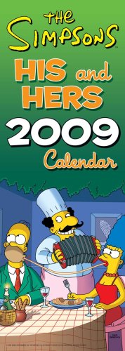 9781847702951: The Simpsons His n hers 2009 Slim Calendar