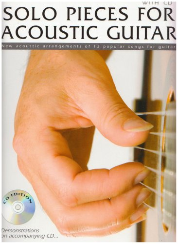 9781847722041: Solo Pieces for Acoustic Guitar: New Acoustic Arrangements of 13 Popular Songs for Guitar (Book & CD)