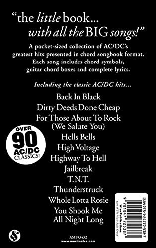9781847725387: The Little Black Songbook: AC/DC