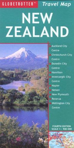 9781847730442: New Zealand Travel Map (Globetrotter Travel Map)