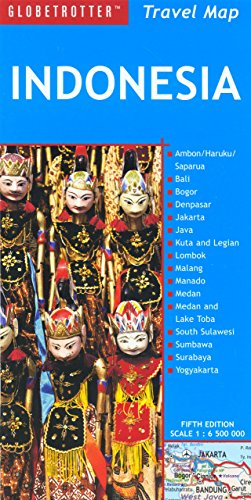 Indonesia Travel Map (Globetrotter Travel Map): Globetrotter