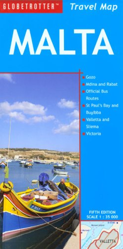 9781847730893: Malta Travel Map (Globetrotter Travel Map)