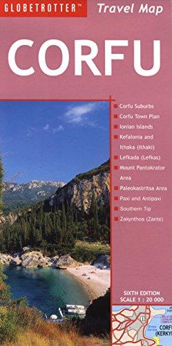 9781847733764: Travel Map Corfu (Globetrotter Maps)