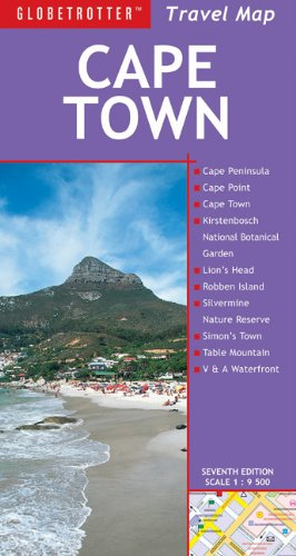 9781847736253: Cape Town Travel Map, 7th (Globetrotter Travel Map)
