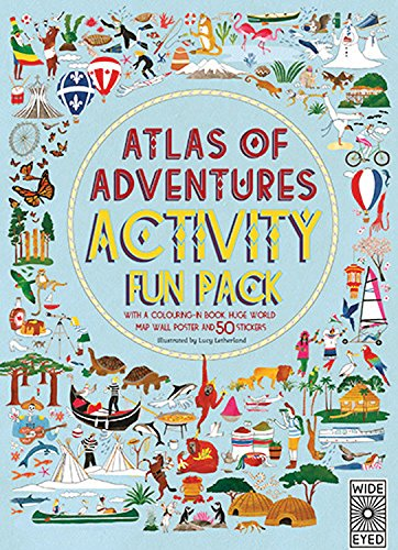 9781847807335: Atlas of Adventures Activity Fun Pack: with a coloring-in book, huge world map wall poster, and 50 stickers