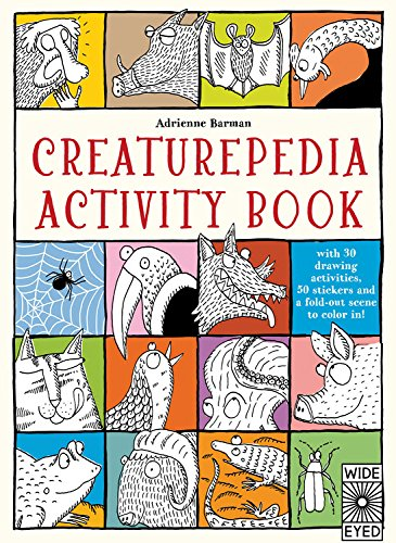 9781847808356: Creaturepedia Activity Book: with 30 drawing activities, 50 stickers and a fold-out scene to color in!