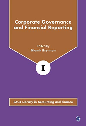 Corporate Governance and Financial Reporting (Hardcover): Niamh Brennan