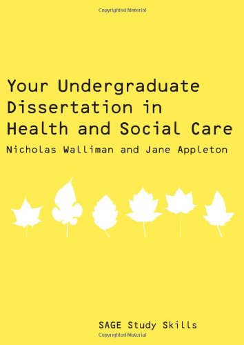9781847870698: Your Undergraduate Dissertation in Health and Social Care (SAGE Study Skills Series)