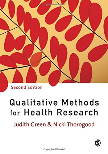 9781847870742: Qualitative Methods for Health Research (Introducing Qualitative Methods series)