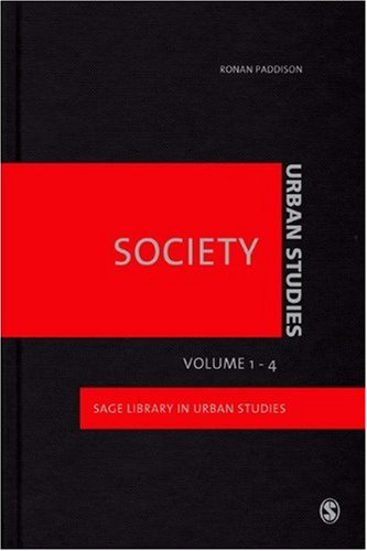 9781847872579: Urban Studies - Society (Sage Library Urban Studies)