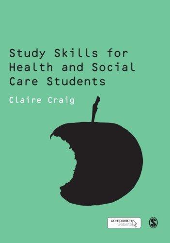 9781847873897: Study Skills for Health and Social Care Students (SAGE Study Skills Series)