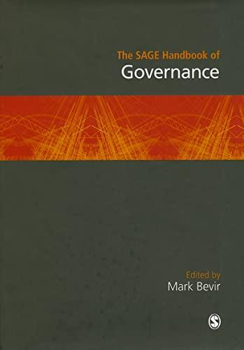 9781847875778: The SAGE Handbook of Governance (Sage Handbooks)