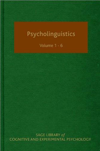 9781847875983: Psycholinguistics (SAGE Library of Cognitive and Experimental Psychology)