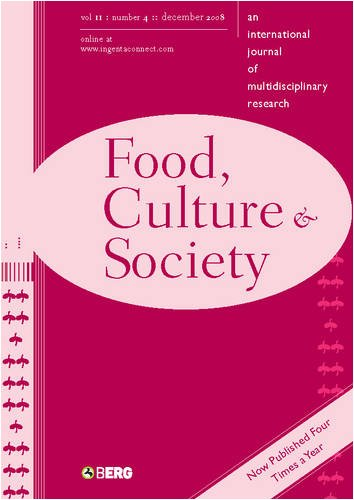 9781847882356: Food, Culture and Society: An International Journal of Multidisciplinary Research