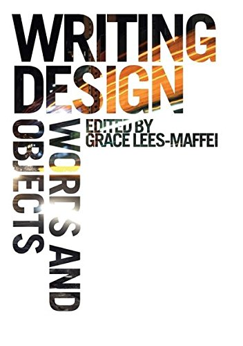 9781847889560: Writing Design: Words and Objects