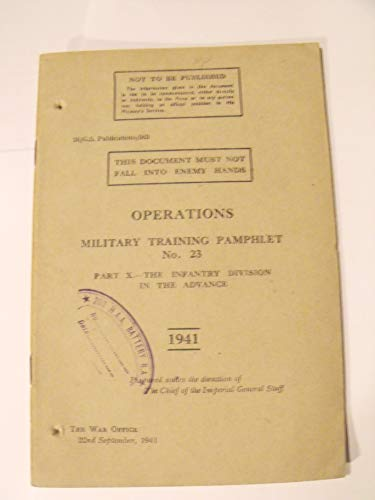 9781847910974: Military Training Pamphlet: Operations No. 23