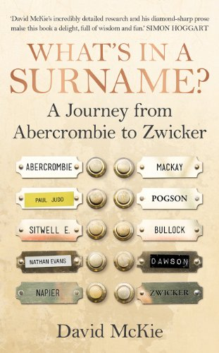 9781847946942: What's in a Surname?: A Journey from Abercrombie to Zwicker